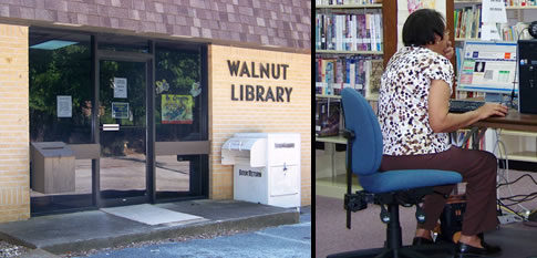 Walnut library banner