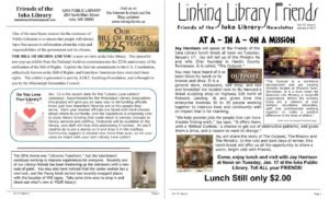 Iuka Public Library Newsletter, page 1