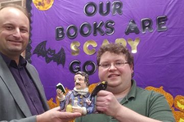Edgar Allan Poe Statuette Presented to Corinth Library