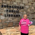 This patron came by to pick up some State Tax Forms and wanted to show her gratitude with flowers for the library.